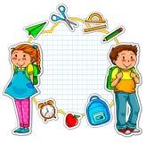 Coleção da escola ilustração stock
