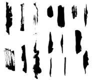 Coleção da escova Fotografia de Stock