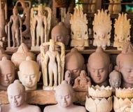 Coleção da escultura do arenito em cambodia Fotos de Stock Royalty Free