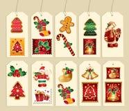 Coleção da etiqueta de ano novo Imagem de Stock