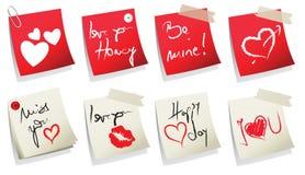 Coleção da etiqueta do dia do Valentim Fotos de Stock Royalty Free