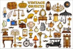 Coleção da etiqueta para o objeto do vintage e da antiguidade Imagens de Stock