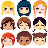 Coleção da expressão facial Fotografia de Stock Royalty Free