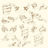 Coleção da fita do vintage ilustração do vetor