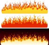 Coleção da flama ilustração stock