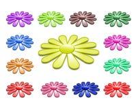 Coleção da flor em 3D Fotos de Stock Royalty Free