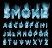 Coleção da fonte do fumo Névoa e fonte das nuvens Fonte do gás Imagem de Stock Royalty Free