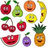 Coleção da fruta dos desenhos animados Imagens de Stock