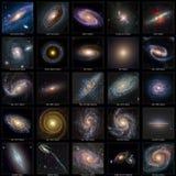 Coleção da galáxia Fotografia de Stock Royalty Free