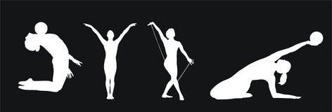 Coleção da ginástica. Imagem de Stock