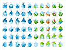 Coleção da gota da água Foto de Stock Royalty Free