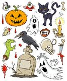 Coleção da Grampo-arte de Halloween ilustração do vetor