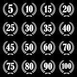 coleção da grinalda do louro para o jubileu Imagem de Stock