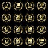 coleção da grinalda do louro para o jubileu Imagem de Stock Royalty Free