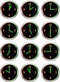 Coleção da hora luminosa dos pulsos de disparo ilustração do vetor