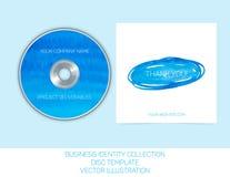 Coleção da identidade do negócio Aquarela do azul e da turquesa Molde de tampa do CD ou do DVD Ilustração EPS10 do vetor Foto de Stock