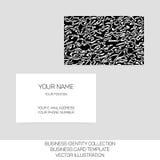Coleção da identidade do negócio Caos preto e branco Parte dianteira e versos para o molde do cartão Vetor eps10 Imagem de Stock