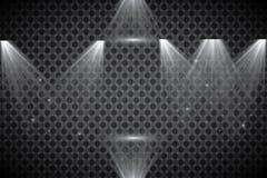 Coleção da iluminação da cena, efeitos transparentes Iluminação brilhante com projetores ilustração royalty free