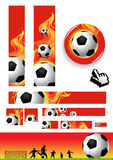 Coleção da ilustração do futebol Imagem de Stock