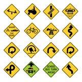 Sinais de aviso do tráfego nos Estados Unidos ilustração royalty free