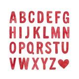 Coleção da letra principal de alfabeto inglês ilustração royalty free