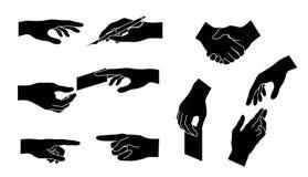 Coleção da mão Silhueta do vetor Conceito para o negócio Imagem de Stock Royalty Free