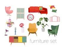 Coleção da mobília ilustração stock
