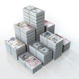 Coleção da nota de banco Imagem de Stock