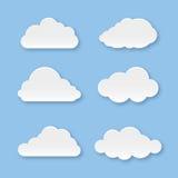Coleção da nuvem Imagem de Stock Royalty Free