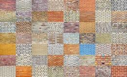 Coleção da parede de tijolo foto de stock