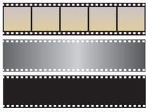 A coleção da película fotográfica Imagens de Stock