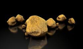 Coleção da pepita de ouro Fotografia de Stock