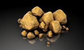 Coleção da pepita de ouro Fotos de Stock Royalty Free