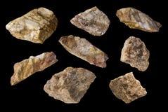 Coleção da rocha fotos de stock