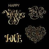 Coleção da rotulação do dia de Valentim Imagem de Stock Royalty Free