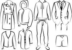 Coleção da roupa dos menâs Imagens de Stock