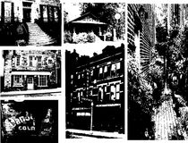 Coleção da silhueta da configuração Fotos de Stock Royalty Free
