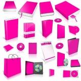 Coleção da tampa vazia de Margeta 3d Imagem de Stock
