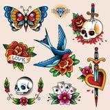 Coleção da tatuagem ilustração stock