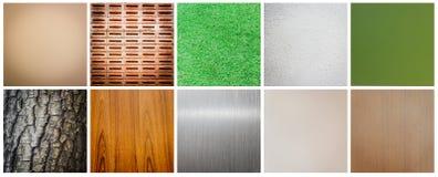 Coleção da textura Imagens de Stock
