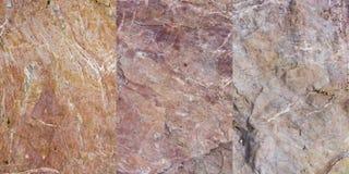 Coleção da textura da rocha (3 em 1) imagens de stock
