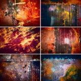 Coleção da textura velha oxidada imagens de stock royalty free
