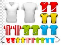 Coleção da vária camiseta de futebol T ilustração stock