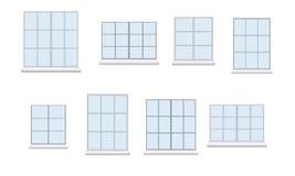 Coleção da vária unidade da janela ilustração royalty free