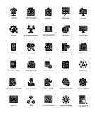 Coleção da Web e do Seo Glyph Vetora Icons Fotografia de Stock