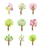 Coleção das árvores Imagens de Stock