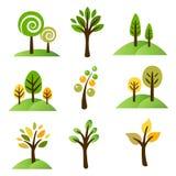 Coleção das árvores Fotografia de Stock Royalty Free