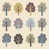 Coleção das árvores Foto de Stock
