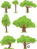 Coleção das árvores Fotografia de Stock
