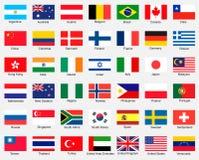 Coleção das bandeiras Imagem de Stock